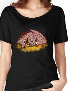 Typographic Smaug, on his pile of gold Women's Relaxed Fit T-Shirt