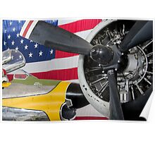 Airplane Stars and Stripes Poster