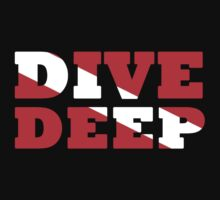 SCUBA DIVING DEEP DIVE FLAG by BelfastBoy