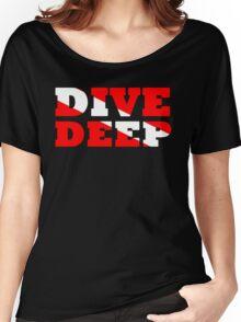 SCUBA DIVING DEEP DIVE FLAG Women's Relaxed Fit T-Shirt