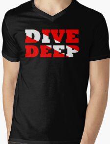 SCUBA DIVING DEEP DIVE FLAG Mens V-Neck T-Shirt