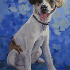 """Jackaroo"" A Pet Portrait by Karen Ilari"