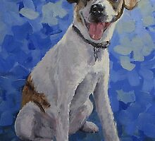 """Jackaroo"" A Pet Portrait by Karen Ilari"