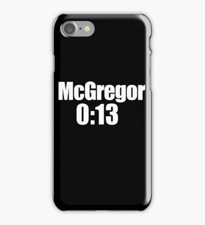 McGregor 0:13 iPhone Case/Skin