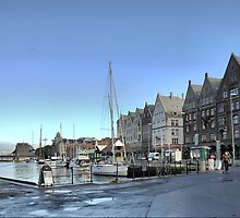Bergen Harbour -- The Morning Coolness by Larry Lingard-Davis