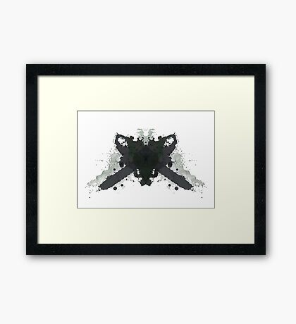 Leatherface Texas Chainsaw Massacre Inkblot  Framed Print