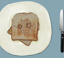 Blessed Noodly Appendages On Toast 2013 by Brinjen