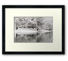 The Williams House Winter White out Framed Print