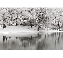 The Williams House Winter White out Photographic Print