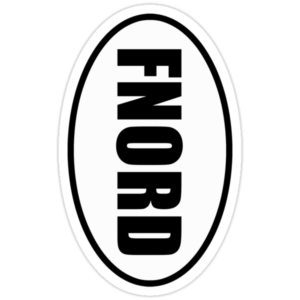 fnord - European Style Oval Country Code Sticker by fohkat