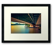 Under the Bridge... Framed Print