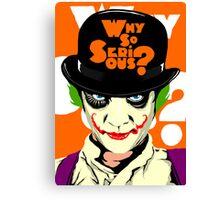 A Clockwork Joker - Serious Droog Canvas Print