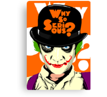 A Clockwork Joker - Serious Droog Canvas Print