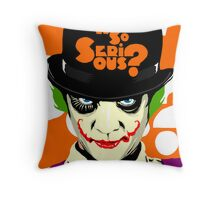 A Clockwork Joker - Serious Droog Throw Pillow