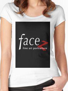 FACEZ Fine Art Portraiture Women's Fitted Scoop T-Shirt