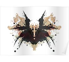 Freddy Krueger Glove Nightmare on Elm Street Inkblot Poster