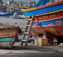 Marsaxlokk (Malta) -- Maintenance Break by Edwin  Catania