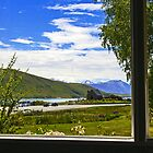 Lake Tekapo , View from our cottage window  by Doug Cliff