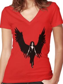 Dark Angel - Black Women's Fitted V-Neck T-Shirt