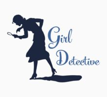 Girl Detective (dark on light) by Hawthorn Mineart