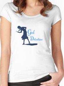 Girl Detective (dark on light) Women's Fitted Scoop T-Shirt