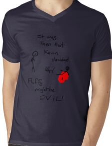Fluffy Might Be EVIL! Mens V-Neck T-Shirt