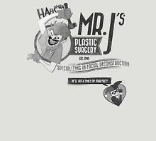 Mr. J's Plastic Surgery ( Black & White ) Unisex T-Shirt