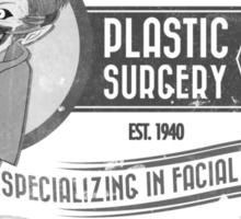 Mr. J's Plastic Surgery ( Black & White ) Sticker