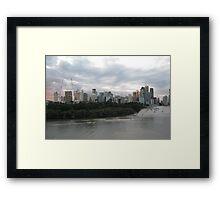 Brisbane CBD Skyline (2011) Framed Print