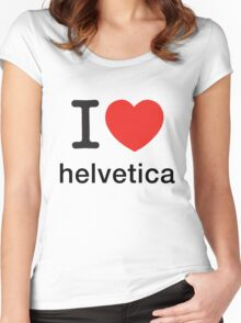 I Love Helvetica Women's Fitted Scoop T-Shirt