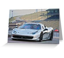 Ferrari 458 Challenge Greeting Card