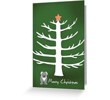 Koala xmas card Greeting Card