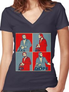 Confused Travolta Meme: Hope  Women's Fitted V-Neck T-Shirt