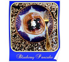 Blueberry Pancake Poster