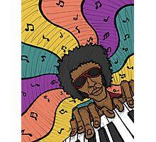 Piano Man Making Music Photographic Print