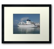 Ship in harbour Framed Print