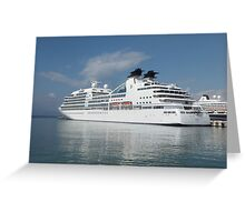 Ship in harbour Greeting Card