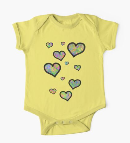 Colourful Hearts One Piece - Short Sleeve