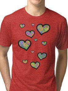 Colourful Hearts Tri-blend T-Shirt