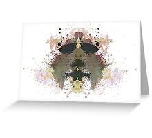 Michael Myers Halloween Mask Inkblot Greeting Card
