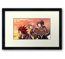 KINGDOM HEARTS | 358/2 DAYS ! POSTER · the ice-cream trio Framed Print