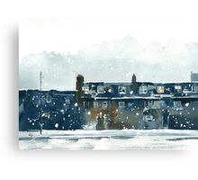 Edinburgh Snow 2 Canvas Print