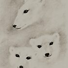 THE POLAR BEAR & CUBS by Leny L.