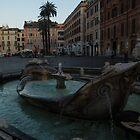 Rome's Fabulous Fountains - Fontana della Barcaccia at the Spanish Steps, Early Morning by Georgia Mizuleva