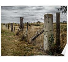 A farm fence Poster