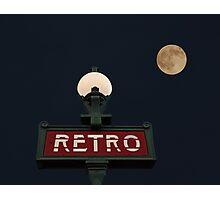 Retro Moon Photographic Print