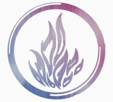 Divergent - Dauntless Symbol Gradient by Brittney Walker