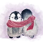 Penguin Cuddle by Petra van Berkum