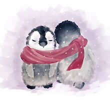 Penguin Cuddle by Petra van Berkum