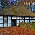 Aberonwydd Farmhouse - Thank You Card by Paula J James